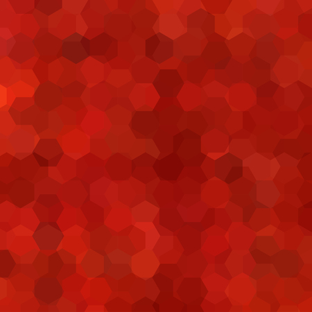Abstract background consisting of red, orange, brown hexagons. Geometric design for business presentations or web template banner flyer. Vector illustration