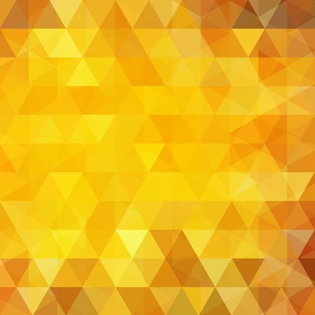 Motivo geometrico, sfondo vettoriale triangoli in toni gialli, arancioni. modello di illustrazione Vettoriali