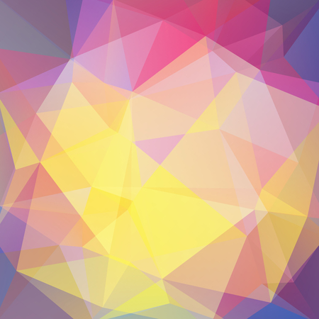 Abstract background consisting of yellow, pink triangles. Geometric design for business presentations or web template banner flyer. Vector illustration Illustration
