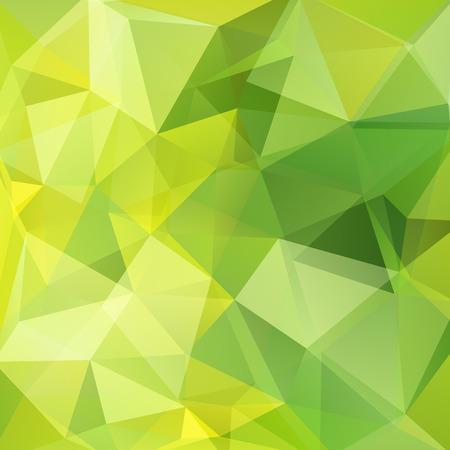 Geometryczny wzór, tło wektor trójkąty wielokąta w odcieniach zieleni, żółci. Wzór ilustracji