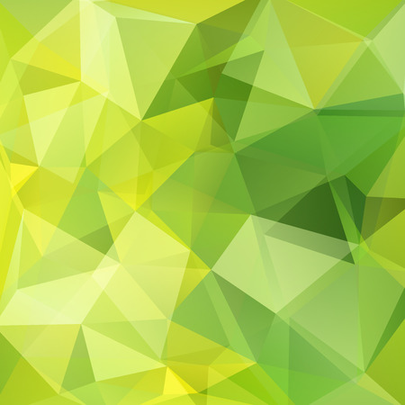 Motif géométrique, triangles de polygone vecteur de fond dans les tons verts et jaunes. Modèle d'illustration