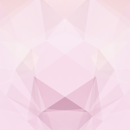 Abstract background consisting of pastel pink triangles. Geometric design for business presentations or web template banner flyer. Vector illustration