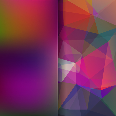 Abstract polygonal vector background. Colorful geometric vector illustration. Creative design template. Abstract vector background for use in design. Purple, green colors. Illustration