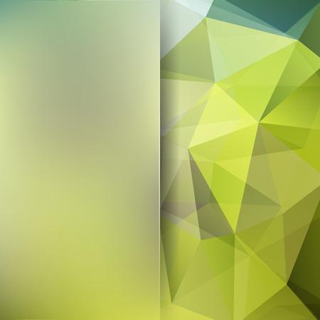 Streszczenie tło wektor wielokąta. Zielona geometryczna ilustracja wektorowa. Szablon projektu kreatywnego. Abstrakcyjne tło wektor do wykorzystania w projektowaniu