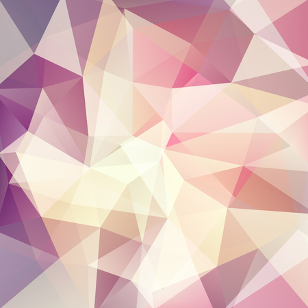 Background of beige, purple geometric shapes. Mosaic pattern. Vector illustration