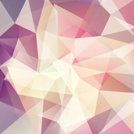 Background of beige, purple geometric shapes. Mosaic pattern. Vector illustration