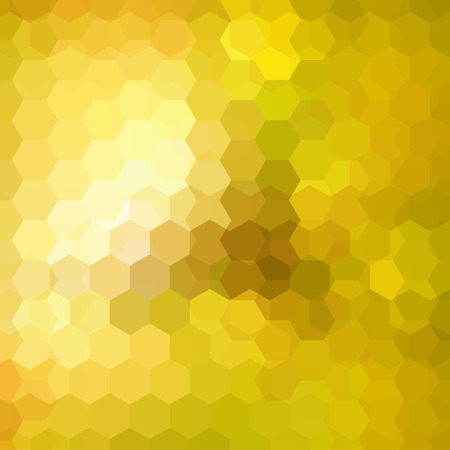 Abstract hexagons vector background. Yellow geometric vector illustration. Creative design template.