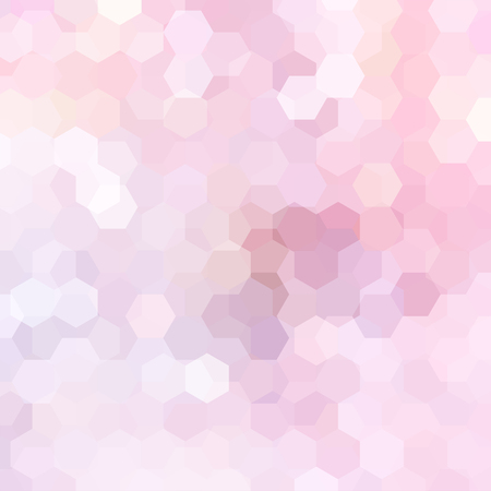 Abstract background consisting of pastel pink hexagons. Geometric design for business presentations or web template banner flyer. Vector illustration