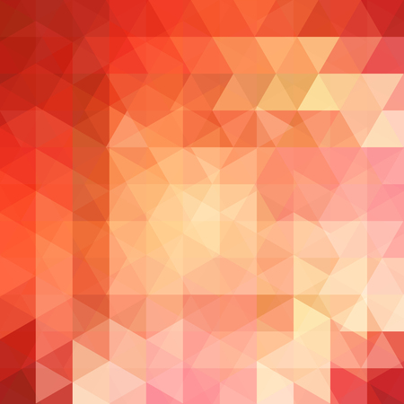 Abstract background consisting of orange triangles. Geometric design for business presentations or web template banner flyer. Vector illustration