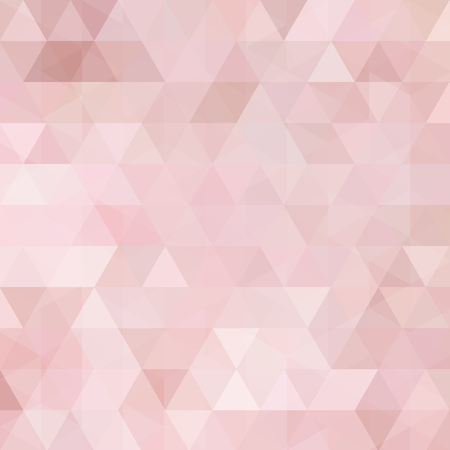 Background made of pastel pink triangles. Square composition with geometric shapes.