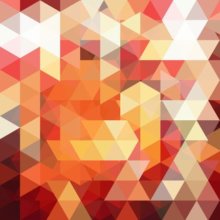 Abstract geometric style orange background. Vector illustration