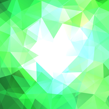 Polygonal vector background. Can be used in cover design, book design, website background. Vector illustration. Green, white colors.