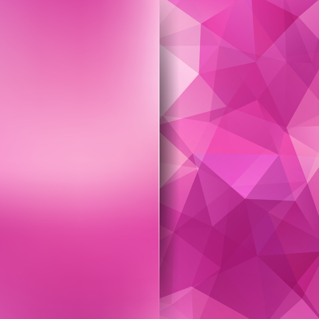 Abstract background consisting of pink triangles. Geometric design for business presentations or web template banner flyer. Vector illustration
