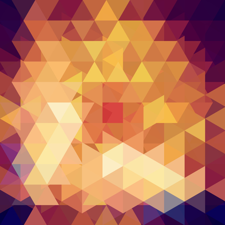 Triangle vector background. Can be used in cover design, book design, website background. Vector illustration. Yellow, brown colros.