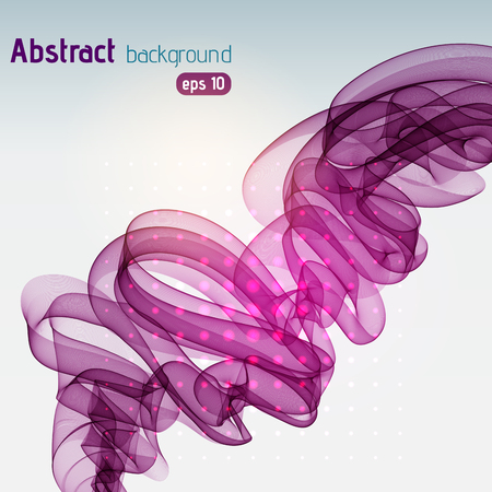 Abstract purple lines on light background. Vector illustration. Technology background with stripes.