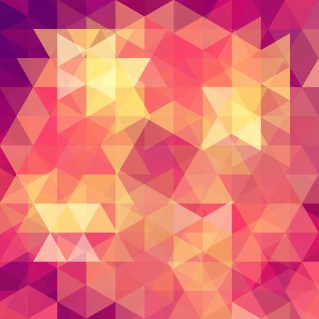 Patrón geométrico, triángulos vector fondo en tonos amarillos, naranjas. Patrón de ilustración