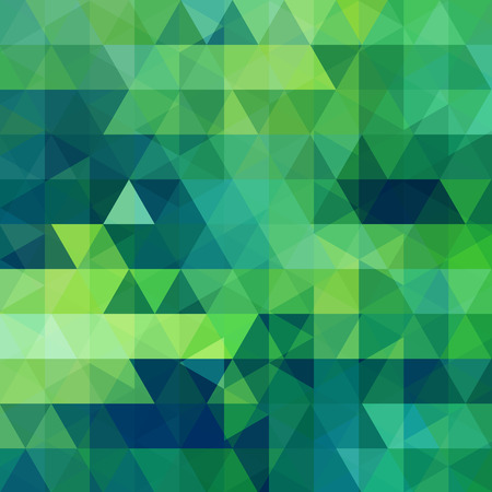 Triangle vector background. Can be used in cover design, book design, website background. Vector illustration. Green, blue colors. Ilustrace
