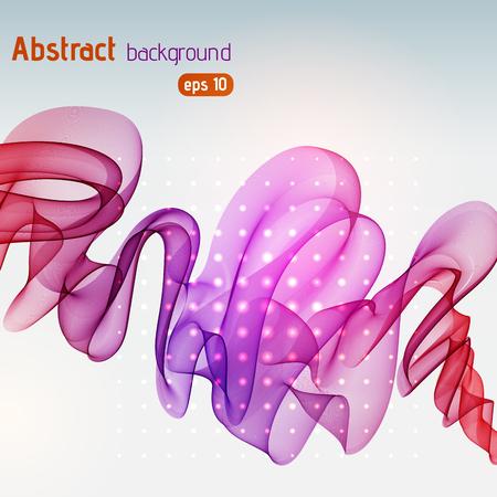 Abstract lines on light background. Vector illustration. Technology background with purple, red stripes. Ilustração