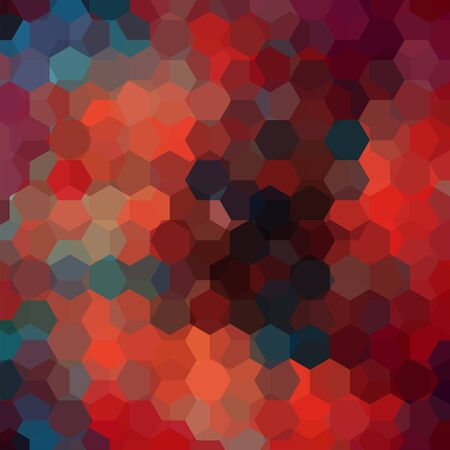Geometric pattern, vector background with hexagons in red, brown, orange, blue Â' tones. Illustration pattern Stock Illustratie