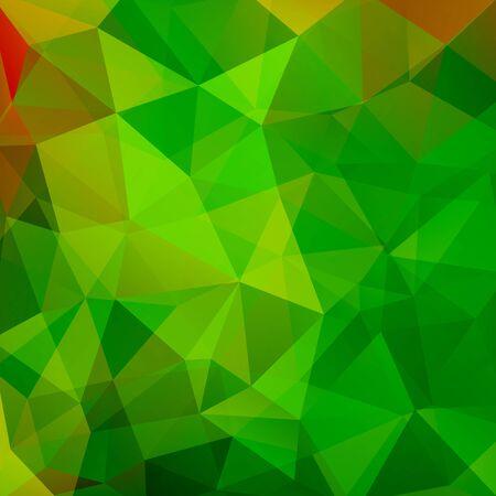 Motif géométrique, triangles de polygone vecteur de fond dans les tons verts . Modèle d'illustration Vecteurs