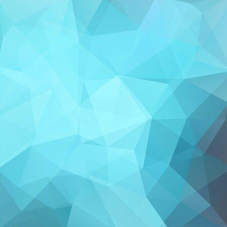 Tło wykonane z niebieskich trójkątów. Kwadratowa kompozycja o geometrycznych kształtach. Odc 10