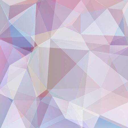 Fondo astratto di vettore poligonale. Illustrazione vettoriale geometrica. Modello di design creativo. Colori rosa pastello, beige. Vettoriali