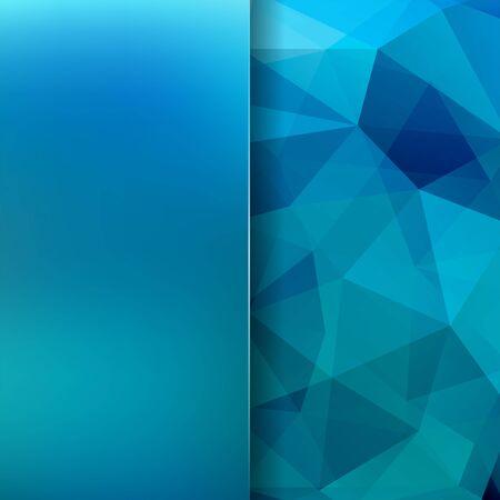 Abstract polygonal vector background. Blue geometric vector illustration. Creative design template. Abstract vector background for use in design Illustration