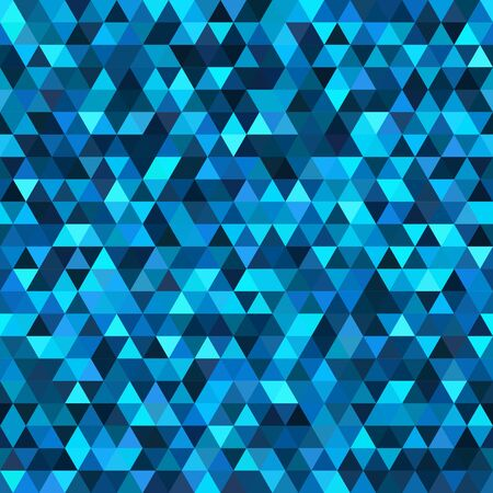 Abstract background consisting of blue triangles. Geometric design for business presentations or web template banner flyer. Illustration pattern.