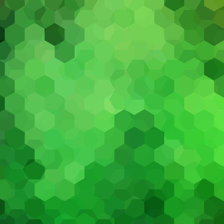 Background made of green hexagons. Square composition with geometric shapes. Eps 10