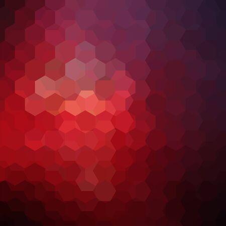 Background of red, purple geometric shapes. Mosaic pattern.