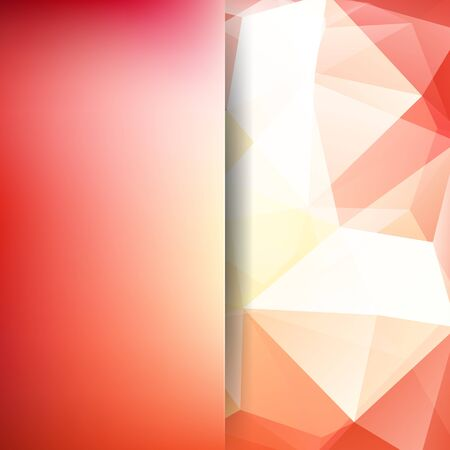 Polygonal vector background. Blur background. Can be used in cover design, book design, website background. Vector illustration. Red, white colors.