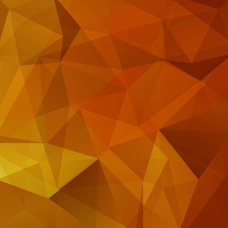 Background of geometric shapes. Orange mosaic pattern. Vector EPS 10. Vector illustration