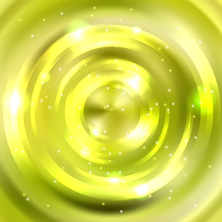 Abstract green background, Shining circle tunnel. Elegant modern geometric wallpaper. Vector illustration