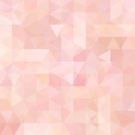 Geometrisches Muster, Dreiecke, Vektorhintergrund in Pastellrosa, Orangetönen. Illustrationsmuster