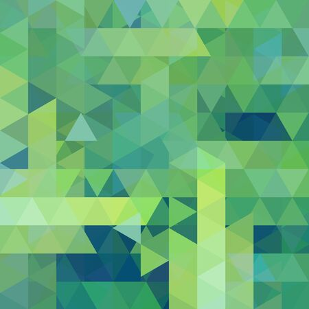 Abstract geometric style green background. Green' business background Vector illustration