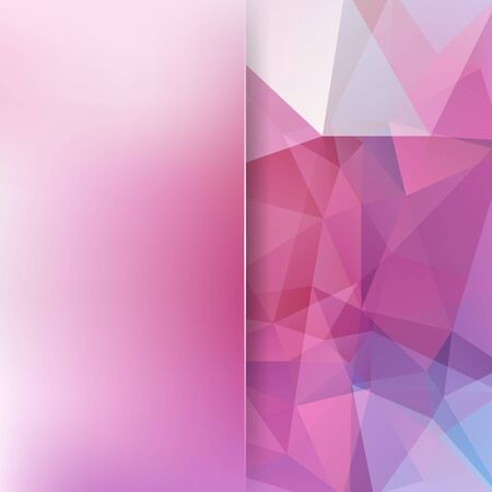Abstract mosaic background. Blur background. Triangle geometric background. Design elements. Vector illustration. Pink, purple colors. Illustration