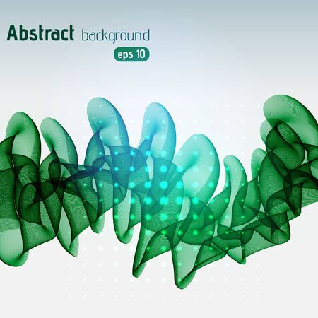 Abstract green template vector background. Vector illustration.