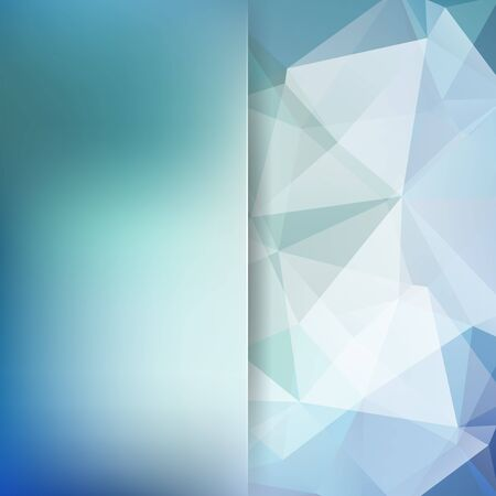 Background of geometric shapes. Blur background with glass. Blue mosaic pattern. Vector EPS 10. Vector illustration