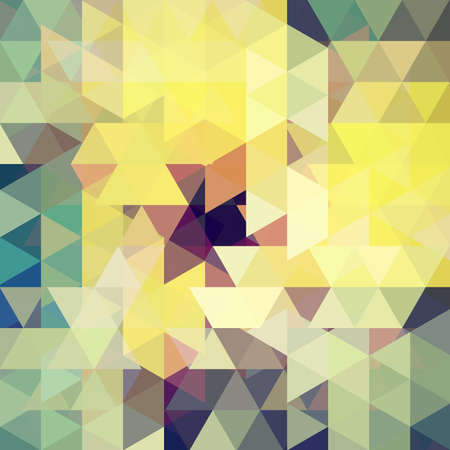 Abstract geometric style Â' background. Yellow, green, brown colors. Vector illustration