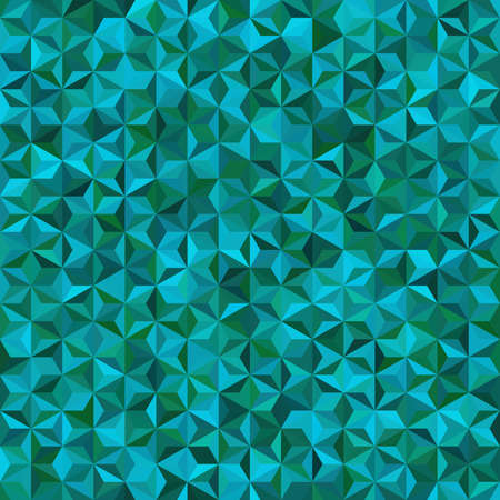 seamless abstract background for design with green, blue triangles.