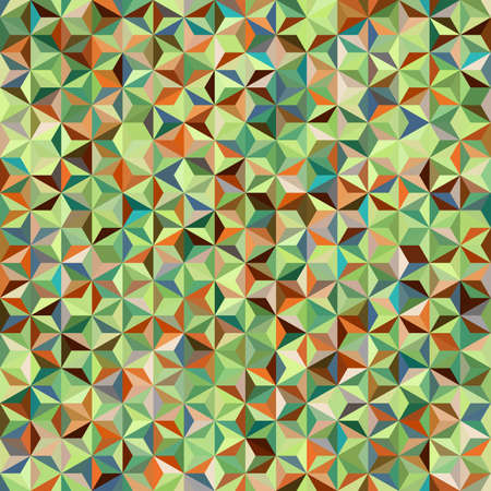 Abstract seamless background consisting of green, brown triangles. Geometric design for business presentations or web template banner flyer.