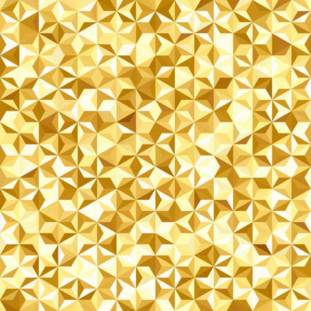 Abstract seamless background consisting of yellow, white triangles. Geometric design for business presentations or web template banner flyer. Vector illustration