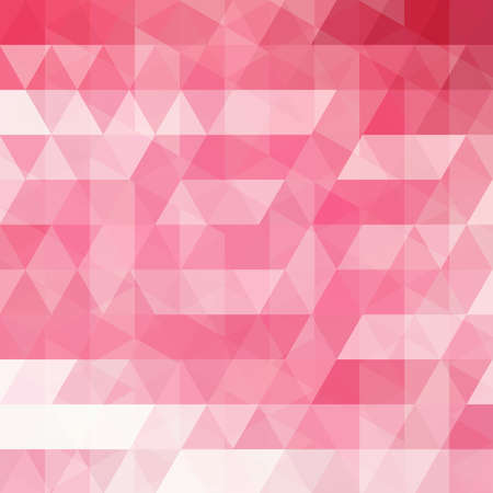 Abstract background with pink triangles. Geometric illustration. Creative design template.