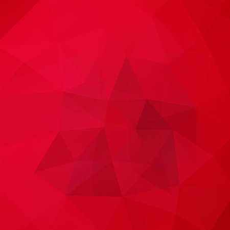 Geometric pattern, polygon triangles vector background in red Â' tones. Illustration pattern