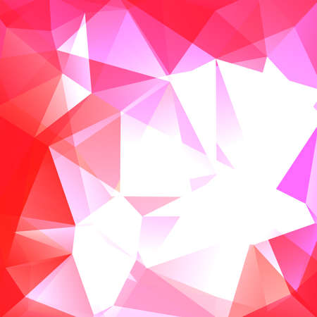 Abstract mosaic background. Triangle geometric background. Design elements. Vector illustration. White, pink colors.