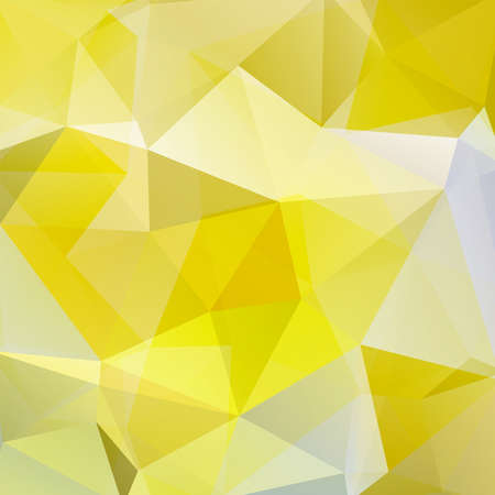 Abstract mosaic background. Triangle geometric background. Design elements. Vector illustration. Yellow, white, gray colors.