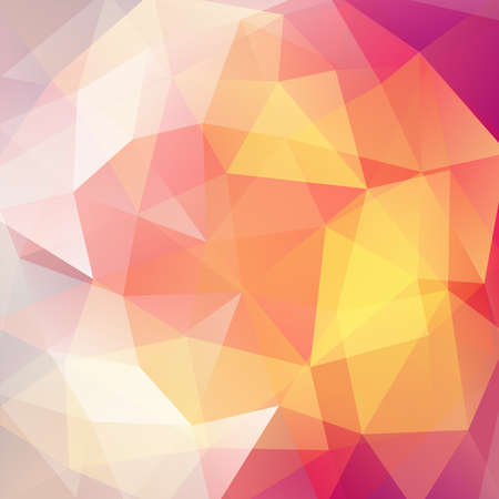 Background of yellow, orange, pink geometric shapes. Mosaic pattern. Vector EPS 10. Vector illustration Illustration