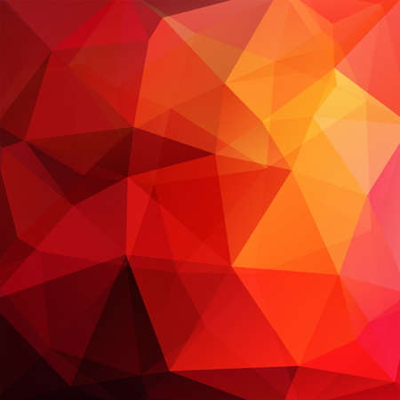 Abstract mosaic background. Triangle geometric background. Design elements. Vector illustration. Red, yellow, orange colors.