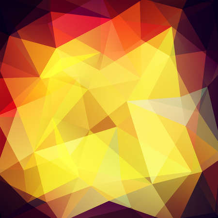 Geometric pattern, polygon triangles vector background in yellow, orange, brown, purple Â' tones. Illustration pattern