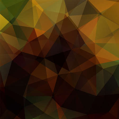 Abstract brown mosaic background. Triangle geometric background. Design elements. Vector illustration Illustration